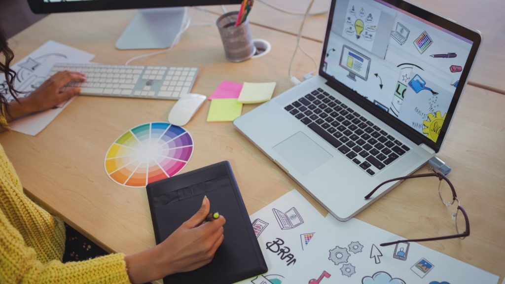 woman graphic designer